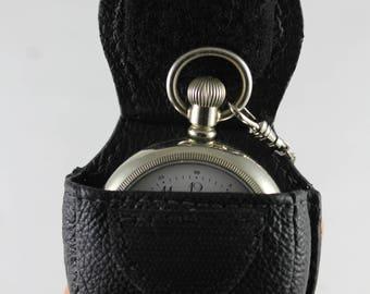Leather Pocket watch Case
