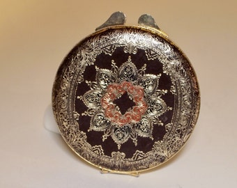 Florentine Italian Leather Compact with Powder