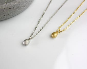 Delicate drop-gilded necklace chain geometric