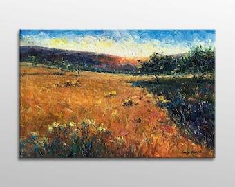 Landscape Painting, Oil Painting, Original Abstract Art, Abstract Canvas Painting, Large Abstract Art, Modern Painting, Painting Abstract