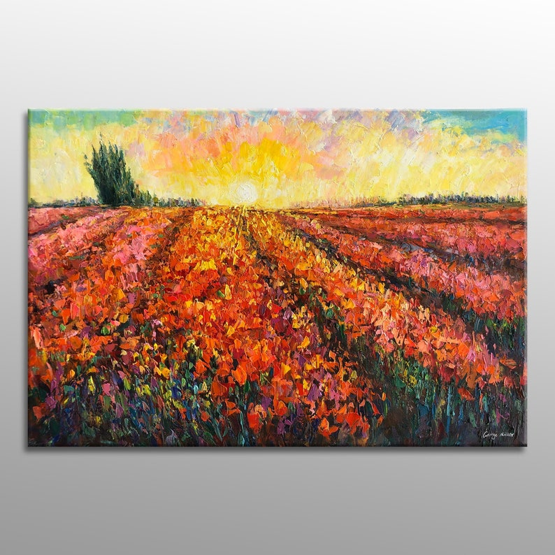 Oil Painting Landscape Painting Abstract Canvas Art Oil image 0