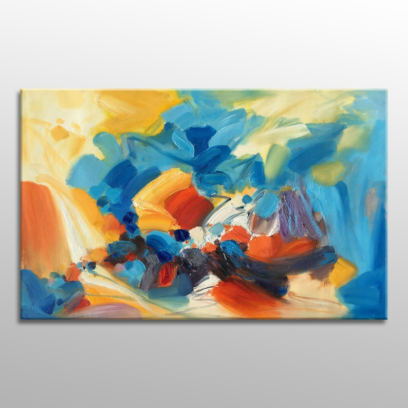 Abstract Painting Abstract Art Oil Painting Canvas Art image 0