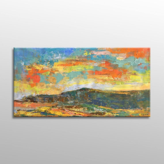 Original Abstract Painting Large Abstract Painting Kitchen Decor Abstract Canvas Painting Abstract Art Canvas Wall Art Contemporary