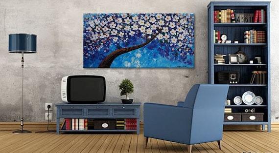 Moderne Kunst Keuken : Hedendaagse kunst keuken decor tree schilderij olieverf etsy