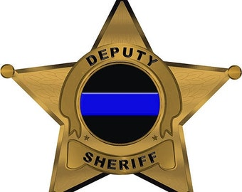 Deputy Sheriff 5 Point Star Reflective 5 Inch Decal SKU: D1066-0002