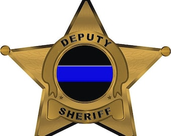 Deputy Sheriff 5 Point Star Reflective 7 Inch Decal SKU: D1066-0004