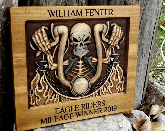 Personalized Motorcycle Plaque