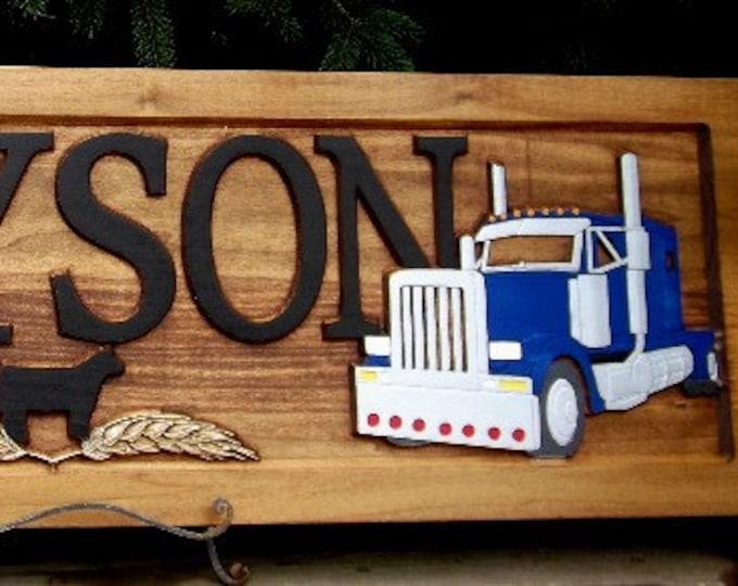 Tractor & Semi / Shop sign / Man Cave