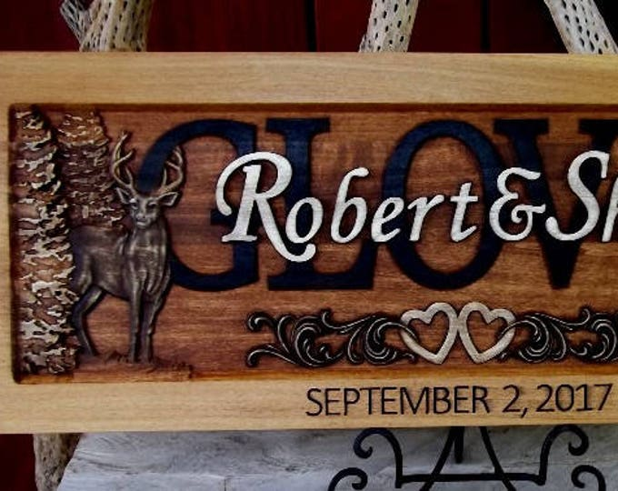 Rustic finish  Deer  and Boots