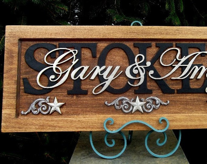 Stars   Anniversary gift Personalized Carved  Plaque Truly a gift to last a lifetime.