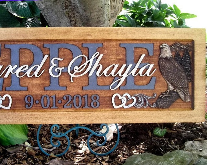 Personalized Family Name Signs custom wedding gift
