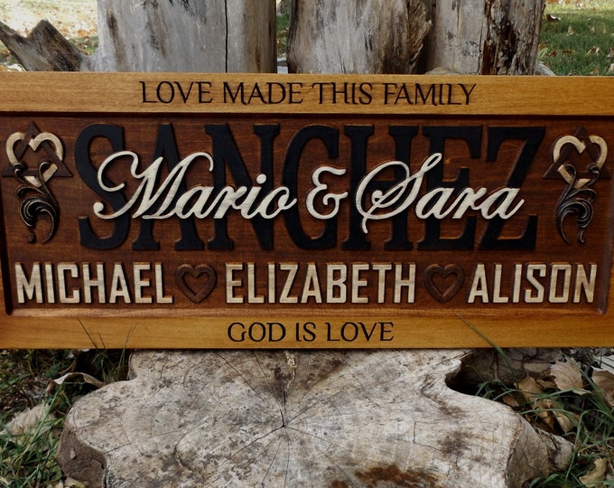 Adoption Symbol Rustic finish