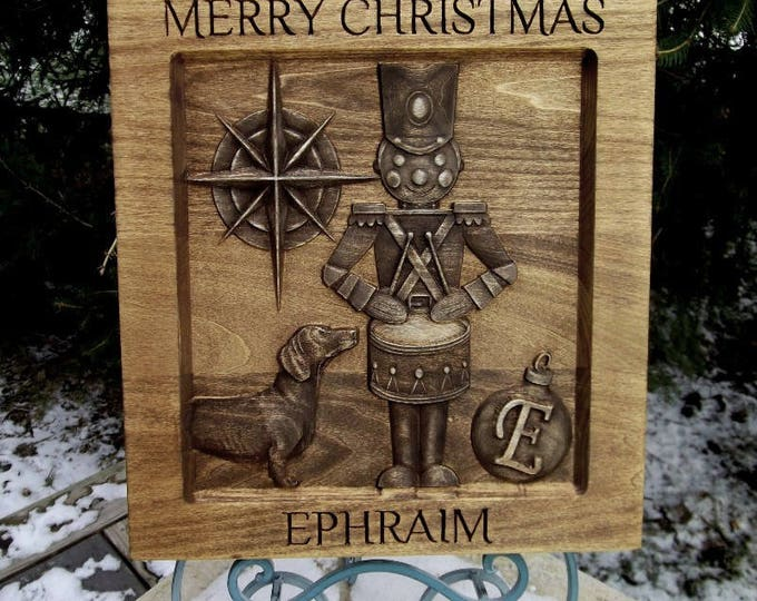 Tin Soldier Christmas  Rustic Golden Mahogany Stain