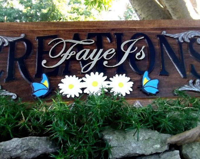 Personalized carved Shop / Business plaque
