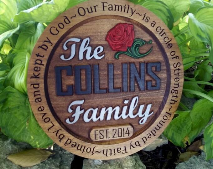 Family plaque / custom / 8 letters maximum