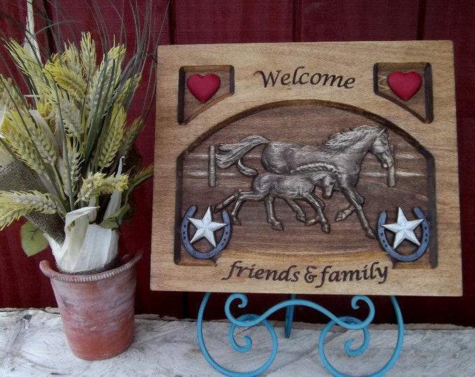 Welcome / Running Horses