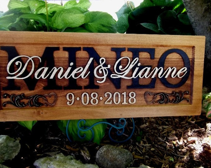 Rustic finish Wedding, Anniversary Plaque