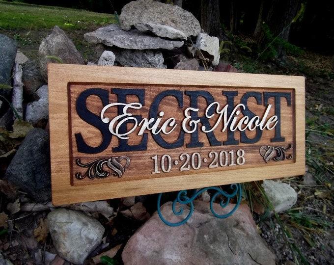 Rustic finish Wedding, Anniversary Plaque !!!Free shipping!!!!!!