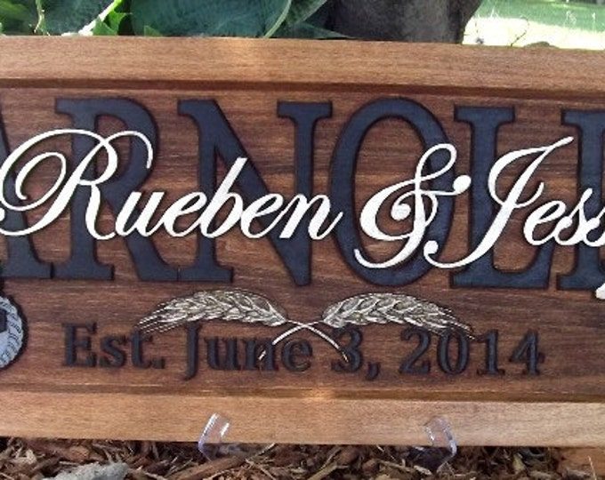 Farm Scene / Cow / Green or Red tractor /Anniversary gift / Wedding gift / Personalized Carved Wooden Plaque / carved art