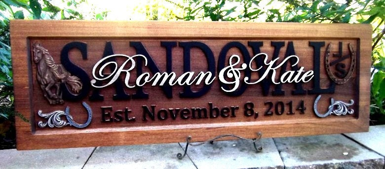 Painted Western Ranch Anniversary Gift Wedding Gift