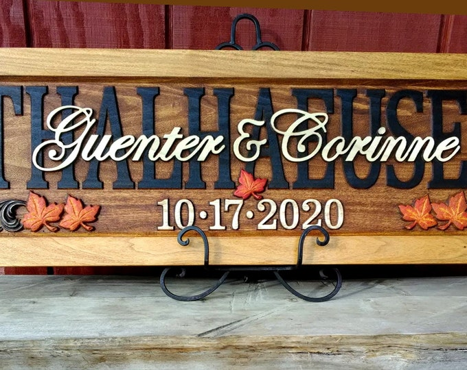 Rustic finish  with Autumn leaves