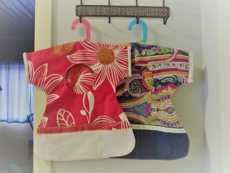 Clothes pin bag cute doll dress hanging peg bag fabric image 0
