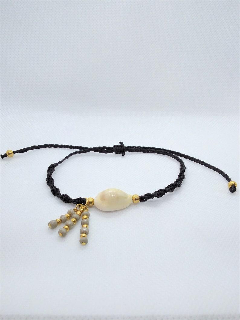 boho seashell bracelet beaded anklet for woman Shell anklet rope beach bracelet