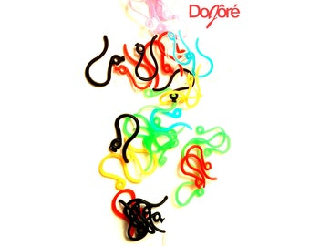 Pack of 8g Plastic Earrings Hooks. Different Colours. APPROX 500 Pieces Hypoallergenic Fish Wire for Sensitive Ears