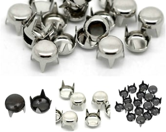 CLEARANCE Pack of 12g (Approx 100) Metal Rivets. 5mm Diameter. Different Colours Decorative Snaps.