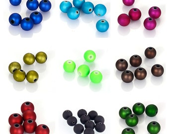 CLEARANCE Pack of 100 Loose Beads. Different Colours. 8mm Acrylic Spacers for Jewellery Making