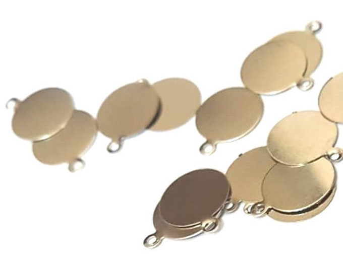 Pack of 50 Mini Silver Colour Discs. Round Blank Stamping Circle Tags. 10mm Engraving Metal Charms