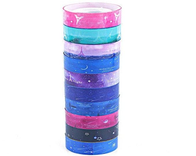 Pack of 20 Assorted Colours & Styles Xmas Washi Tapes. Christmas Wrapping Decorative Washi Masking