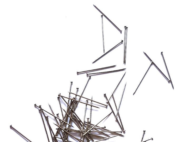 CLEARANCE Pack of 200 Dark Silver Coloured Metal Headpins for Handmade Earrings.