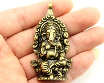 One Piece Ganesha Charms. Different Colours Available. Elephant Pendants