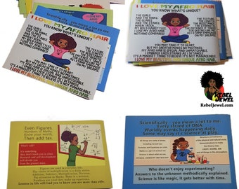 Pack of 3 I Love My Afro Hair, Mathematician, Scientist - Matt Finished Fridge Magnets For Girls