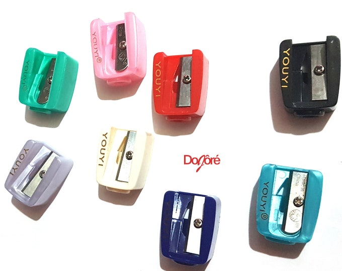 Plastic Single Hole Pencil Sharpener. Different Colours Available. 26mm x 20mm