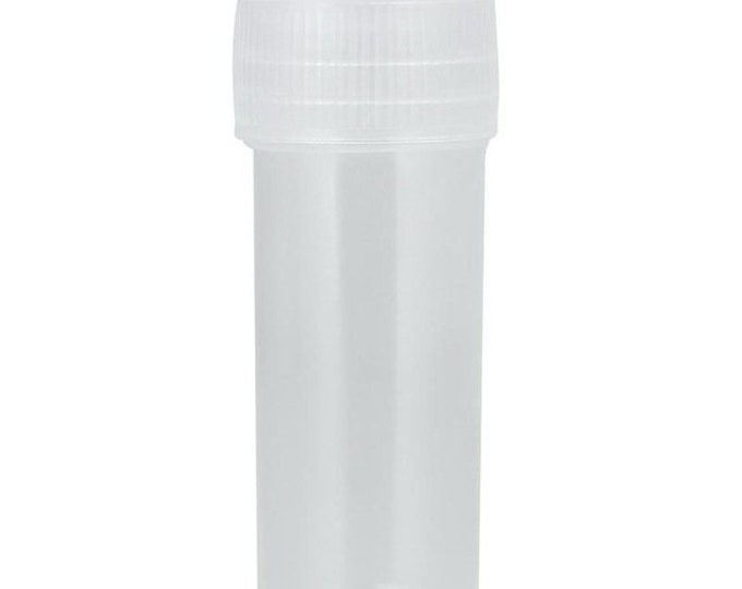CLEARANCE Pack of 20 Mini Plastic Tube Containers with Push Cap. 5ml Travel Size Bottle