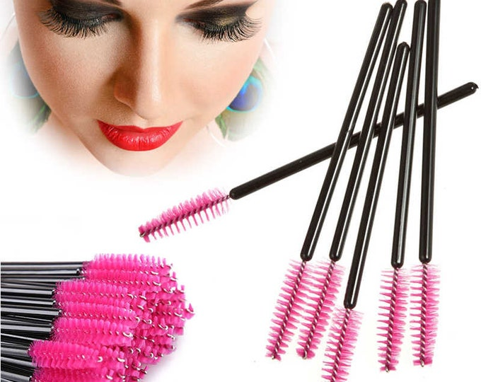 Pack of 50 Replacement Mascara Wands. Disposable Eyelash Brush