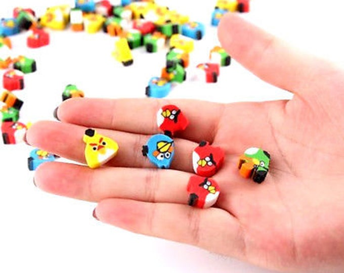 50 x Mini Angry Birds Erasers - Novelty Correction Supplies. Children's Craft Stationery. Ideal for Party Bags and School Pencil Case