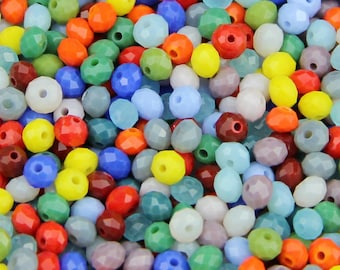 Pack of 100 Round Seed Beads. 4mm Tiny Crystal Spacers Different Colours Available