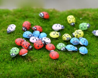 Pack of 200 Assorted Colours Wooden Ladybird Sticker. Wood Scrapbooking Animal and Nature Theme