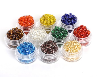 Pack of 1500 Czech Seed Glass Beads. 3mm Tube Spacers. Different Colours Available