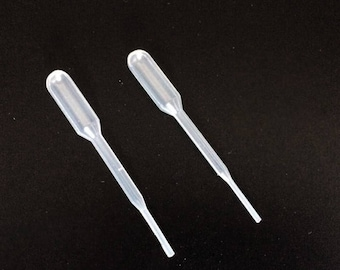Pack of 50 MINI Transparent Plastic Dropping 0.2ml Pipettes. Reusable & Disposable Eye Dropper for Oil.