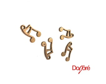 Pack of 30 Bronze Colour Musical Note Charms. Eighth Notes Music Pendants. 14mm x 10mm