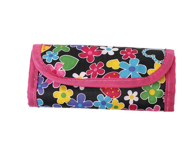 CLEARANCE Foldable Crochet Hooks Storage and Organising Fabric Bag.  Different Style Pouches