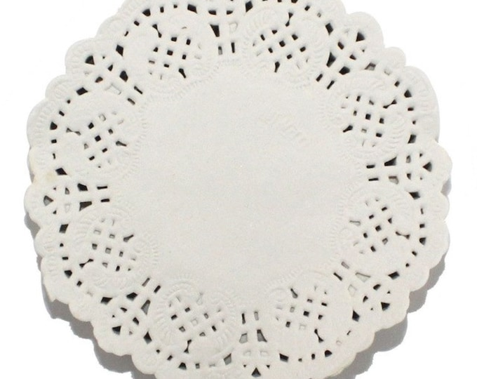 CLEARANCE Pack of 100 Round White 88mm White Paper Doilies. Paper Doily Wedding Doilies