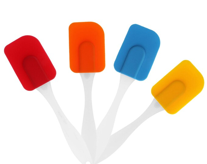 CLEARANCE Silicone Heat Resistant Spatula. Different Candy Colours. Cake Baking Cooking Tool. Stirring and Mixing