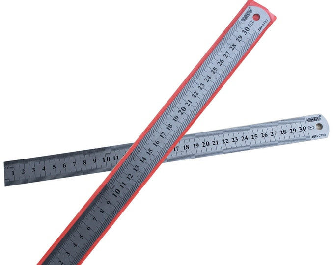 One Piece 30cm Stainless Steel Flexible Ruler. Dress Makers, School and Office Stationery Tools