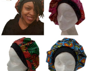 Quality Ankara Textile Bonnet. Different Style Hats Available. Handmade In Africa.