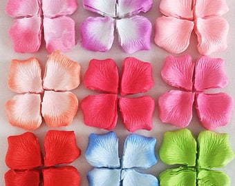 CLEARANCE Pack of 100 Artificial Silk Rose Petals. Different Colours. Wedding Throwing Confetti.